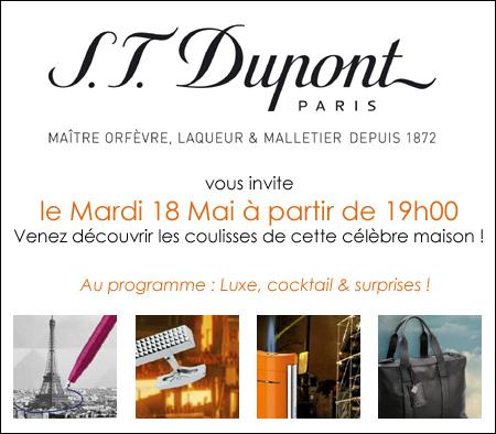 S.T. Dupont vous invite à un moment privilégié