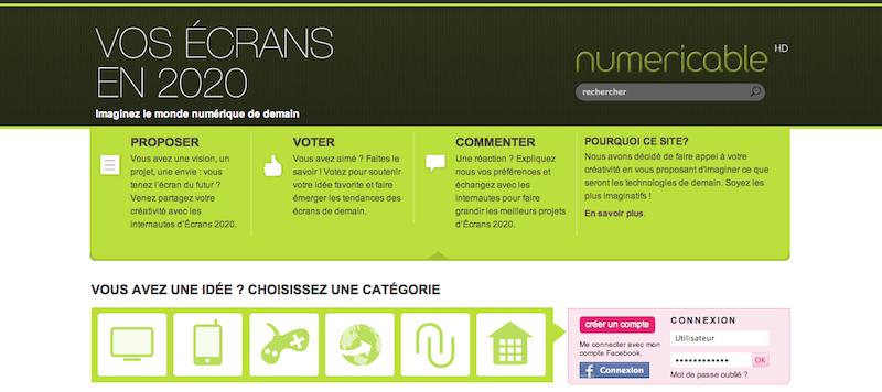 Numéricable lance sa plateforme communautaire : vos écrans en 2020