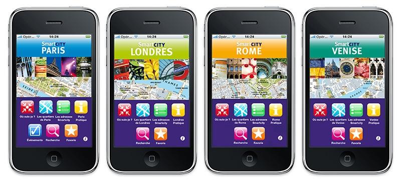 Guides de voyages iPhone SmartCity – concours et tirage au sort