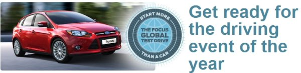 Ford Focus Global Test Drive – j'y serai, et vous ?