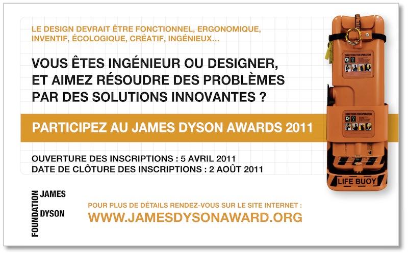 James Dyson Award 2011 – c'est parti !