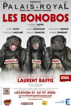Les Bonobos de Laurent Baffie au Théâtre du Palais Royal